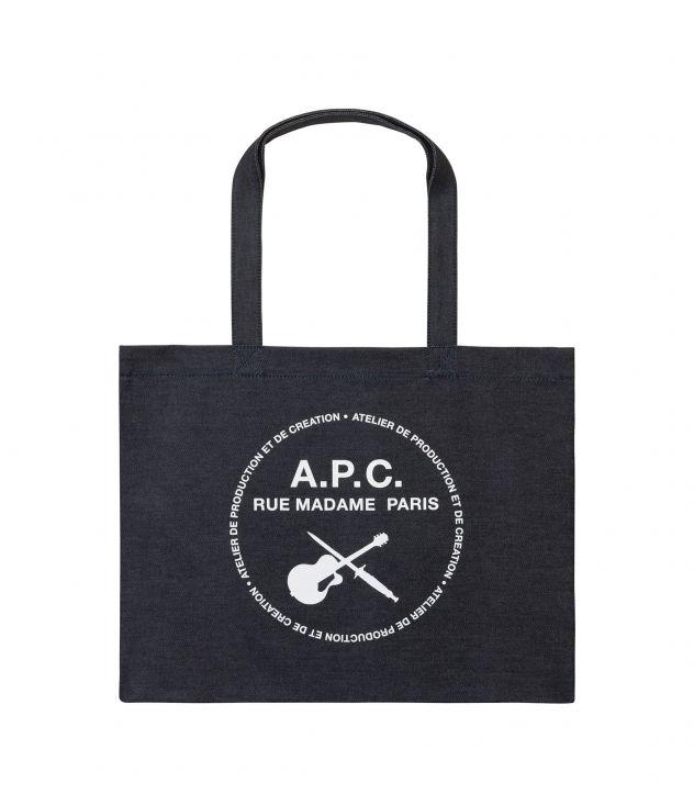 아페쎄 토트백 A.P.C. Guitare Poignard shopping bag,INDIGO