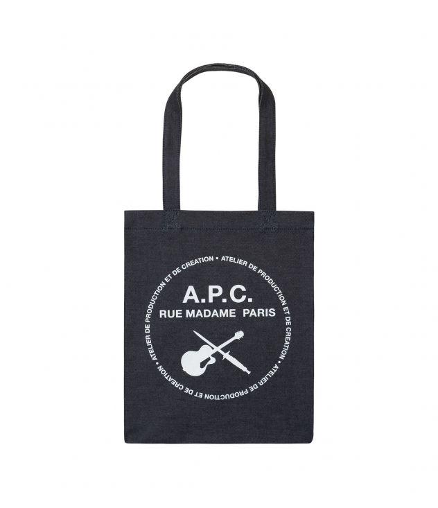 아페쎄 토트백 A.P.C. Guitare Poignard tote bag,INDIGO
