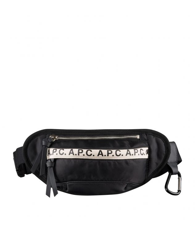 아페쎄 A.P.C. Mini Repeat hip bag,BLACK