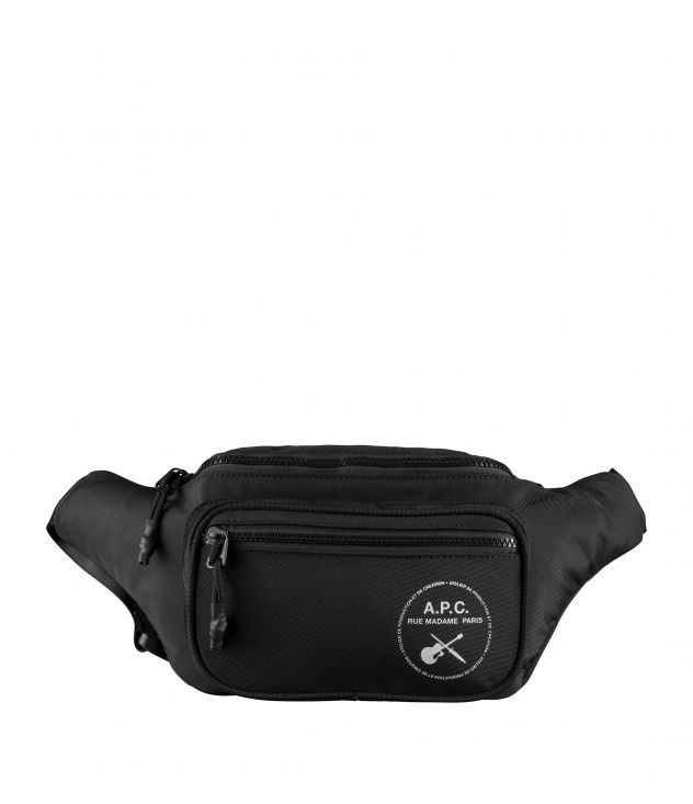 아페쎄 A.P.C. Guitare Poignard hip bag,BLACK