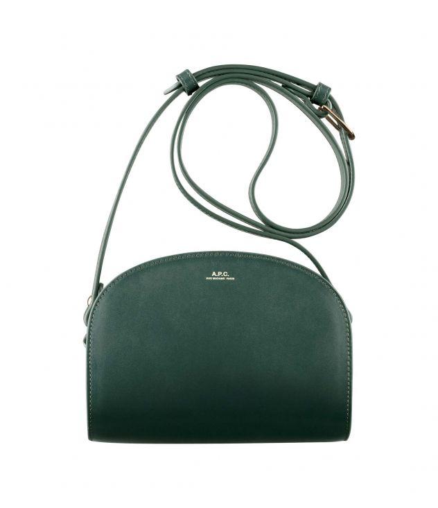 아페쎄 크로스바디백 A.P.C. Demi-Lune bag,DARK GREEN