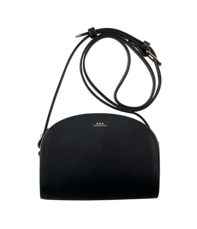 아페쎄 크로스바디백 A.P.C. Mini Demi-Lune bag,BLACK