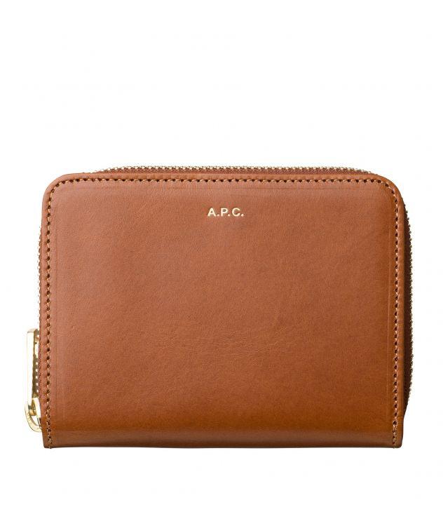 아페쎄 지갑 A.P.C. Emmanuelle compact wallet,NUT BROWN
