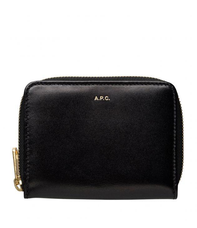 아페쎄 지갑 A.P.C. Emmanuelle compact wallet,BLACK