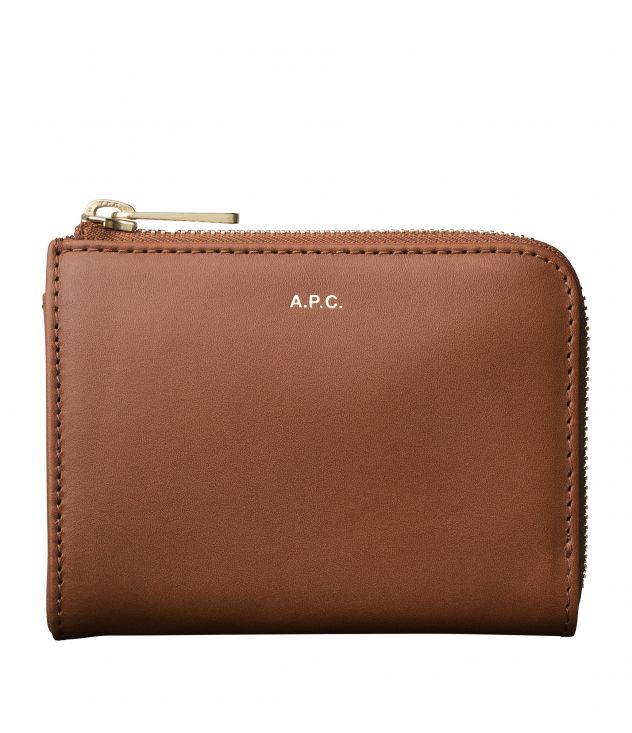 아페쎄 지갑 A.P.C. Lise compact wallet,NUT BROWN