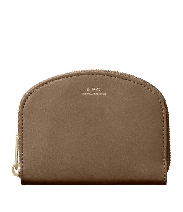 아페쎄 지갑 A.P.C. Demi-Lune compact wallet,TAUPE