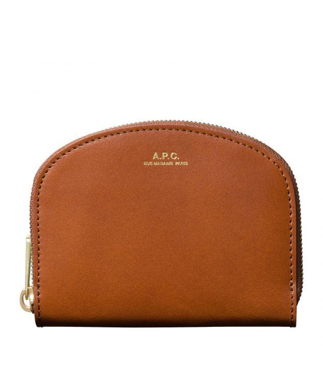 아페쎄 지갑 A.P.C. Demi-Lune compact wallet,NUT BROWN