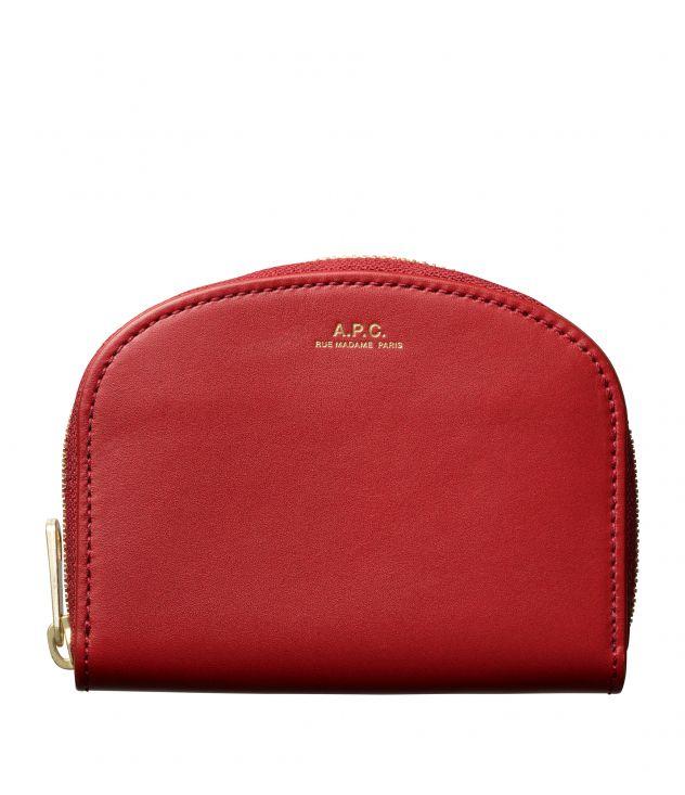아페쎄 지갑 A.P.C. Demi-Lune compact wallet,DARK RED