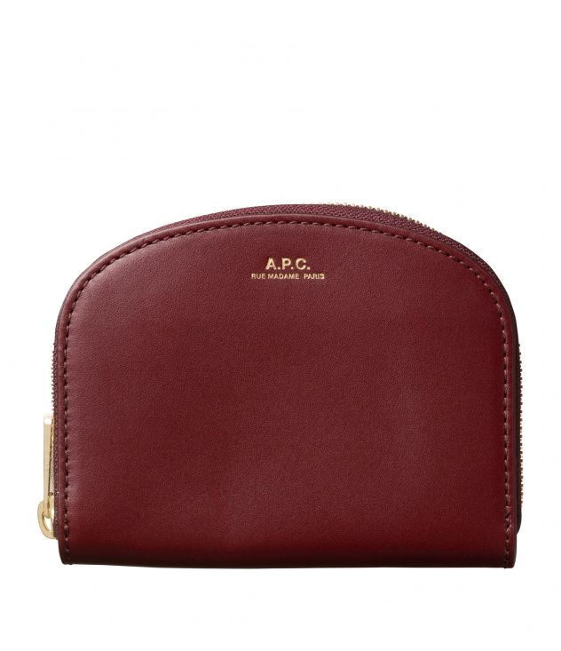 아페쎄 지갑 A.P.C. Demi-Lune compact wallet,VINO