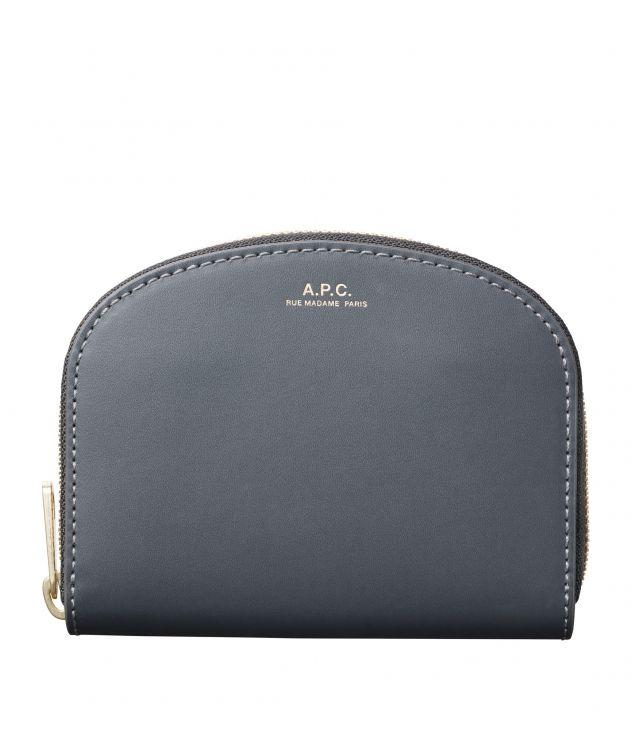 아페쎄 지갑 A.P.C. Demi-Lune compact wallet,SLATE GREY