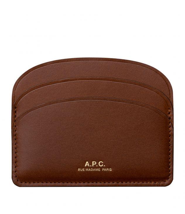 아페쎄 카드홀더 A.P.C. Half-moon cardholder,NUT BROWN