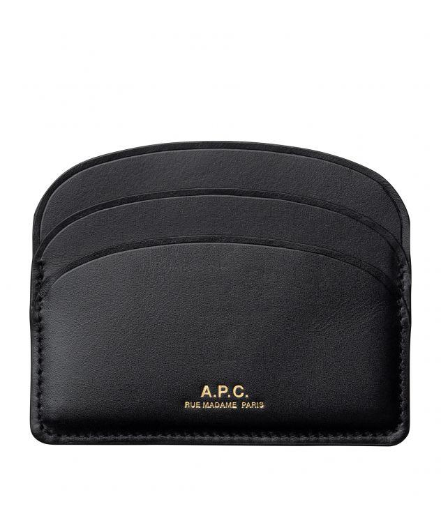 아페쎄 카드홀더 A.P.C. Demi-Lune cardholder,BLACK