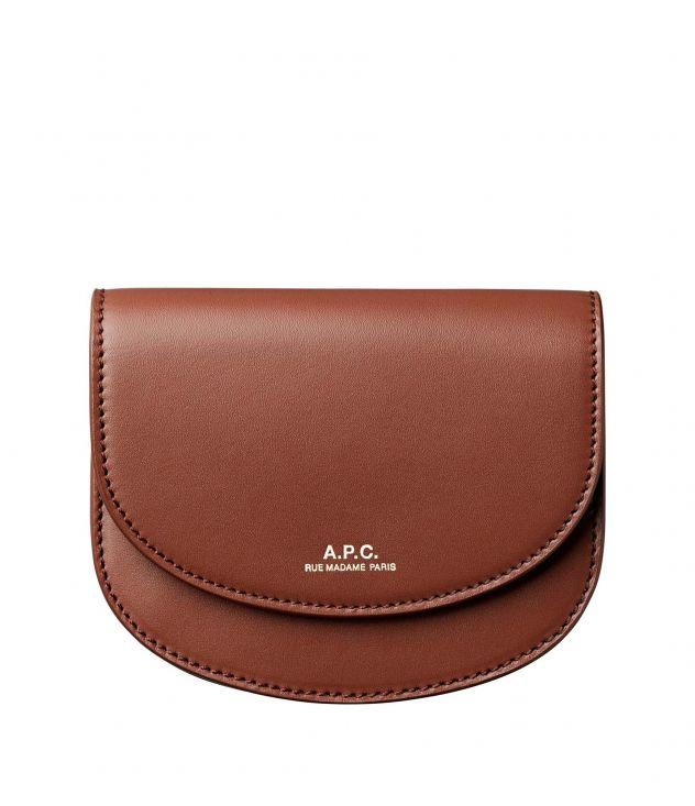 아페쎄 지갑 A.P.C. Geneve compact wallet,NUT BROWN