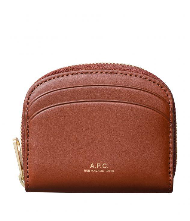 아페쎄 지갑 A.P.C. Demi-Lune Mini compact wallet,NUT BROWN