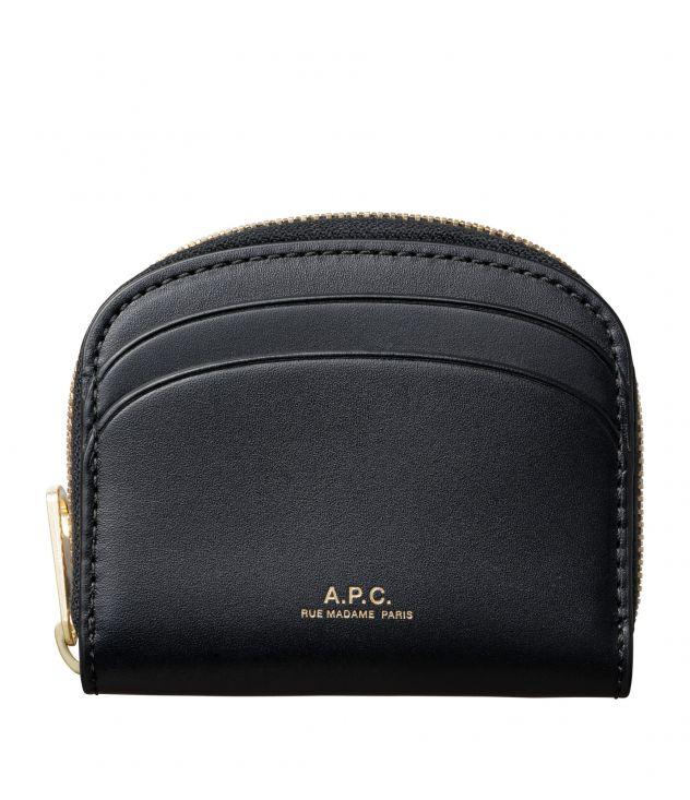 아페쎄 지갑 A.P.C. Demi-Lune Mini compact wallet,BLACK
