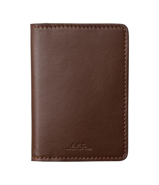 아페쎄 카드홀더 A.P.C. Stefan cardholder,DARK CHESTNUT BROWN
