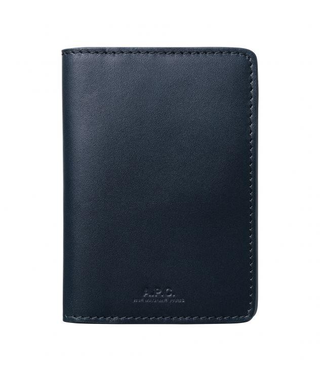 아페쎄 카드홀더 A.P.C. Stefan cardholder,DARK NAVY BLUE