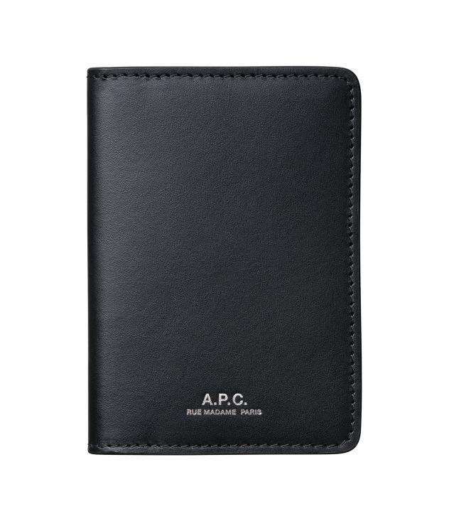 아페쎄 카드홀더 A.P.C. Stefan cardholder,BLACK