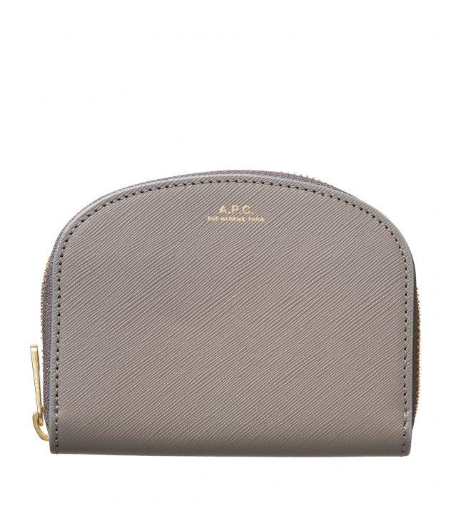 아페쎄 지갑 A.P.C. Demi-Lune compact wallet,ASPHALT