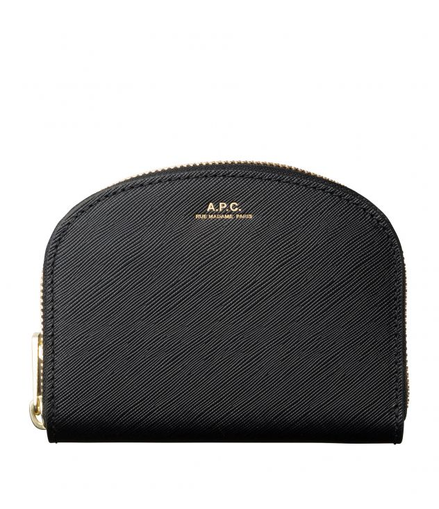 아페쎄 지갑 A.P.C. Demi-Lune compact wallet,BLACK