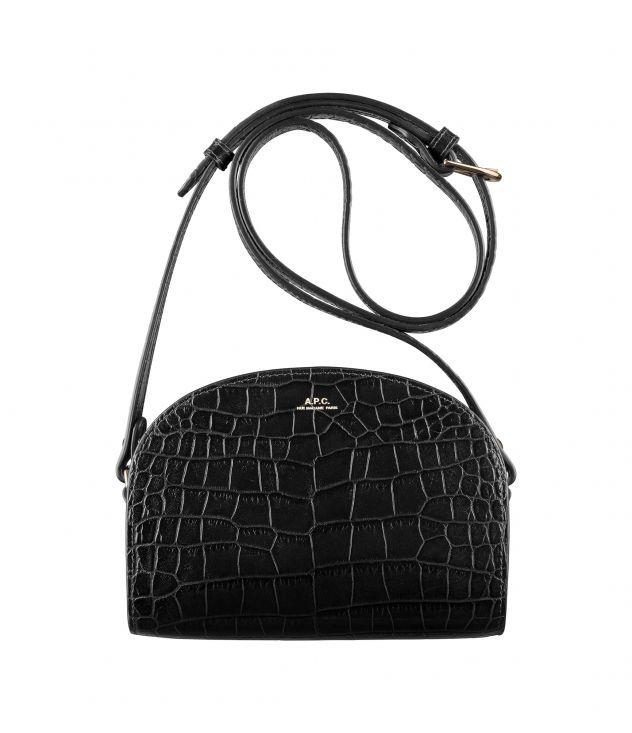 아페쎄 크로스바디백 A.P.C. Demi-Lune Mini bag,BLACK