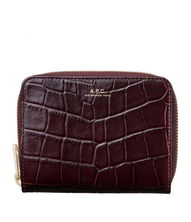 아페쎄 지갑 A.P.C. Emmanuelle compact wallet,VINO