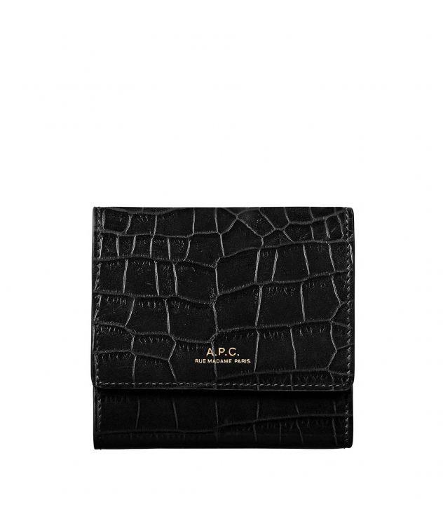 아페쎄 지갑 A.P.C. Lois compact wallet,BLACK
