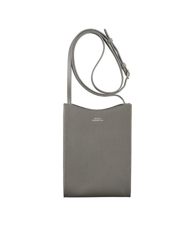 아페쎄 넥 파우치 A.P.C. Jamie neck pouch,ASPHALT