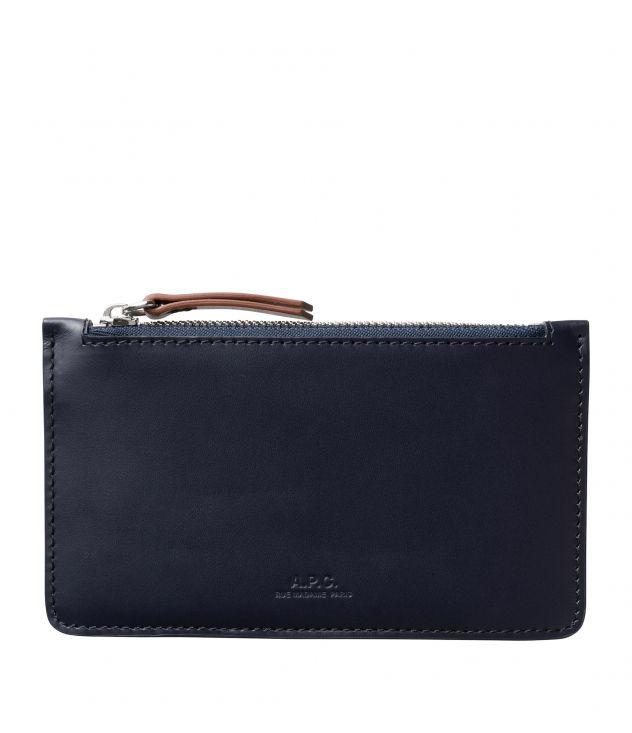 아페쎄 카드홀더 A.P.C. Walter cardholder,DARK NAVY BLUE