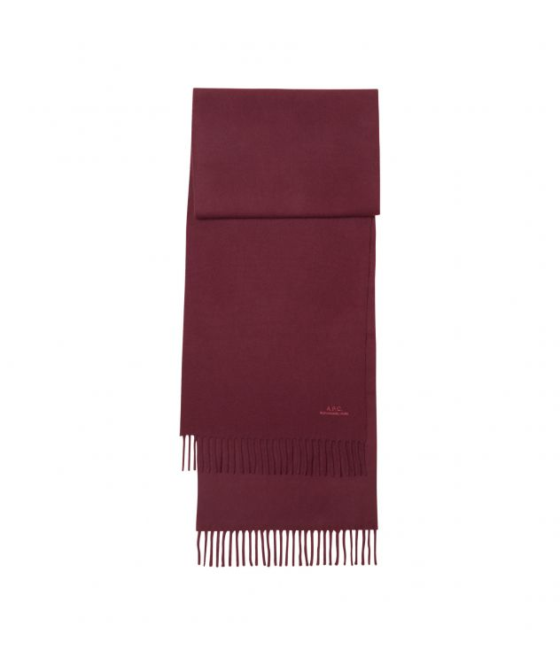 아페쎄 스카프 A.P.C. Ambroise embroidered scarf,WINE