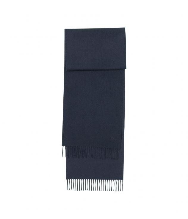 아페쎄 스카프 A.P.C. Ambroise embroidered scarf,DARK NAVY BLUE