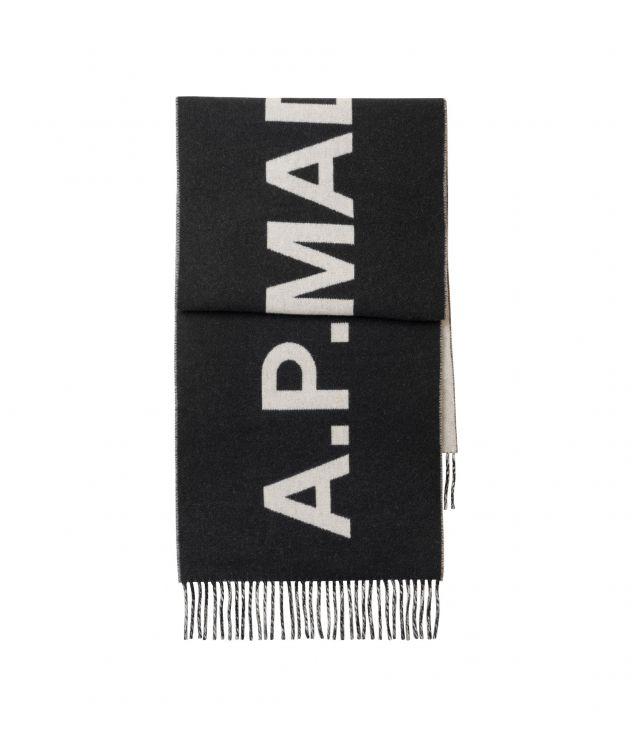 아페쎄 스카프 A.P.C. Angele scarf,BLACK