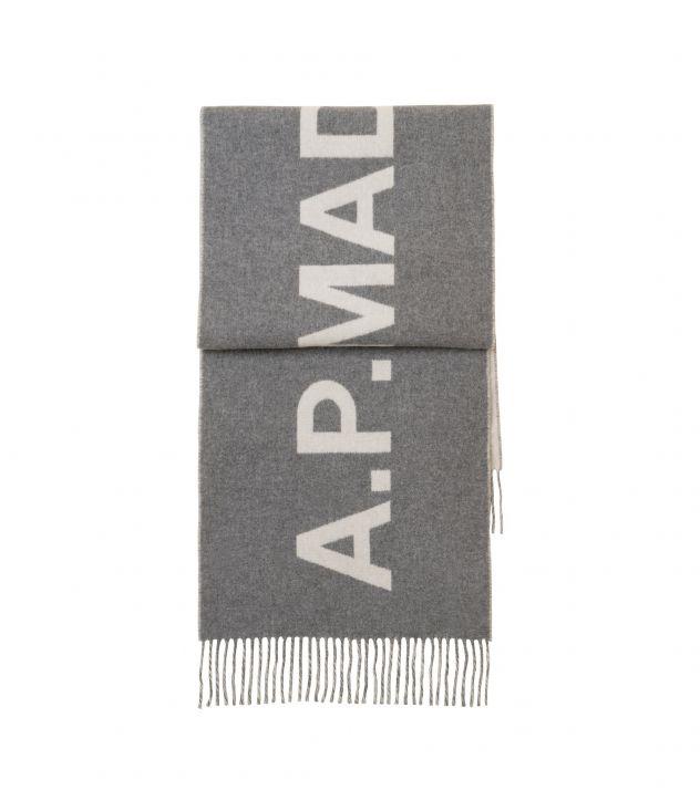 아페쎄 스카프 A.P.C. Angele scarf,HEATHER GREY